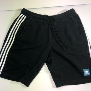 Adidas 3 Stripes Black Shorts Size Large
